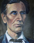 Abe Lincoln Paintings - Lincoln Portrait #7 by Daniel W Green