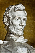 Abraham Lincoln Framed Prints - Lincoln Profle 2 Framed Print by Christopher Holmes