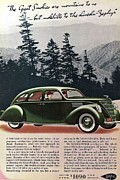 Lincoln City Prints - Lincoln Zephyr 1936 Print by Nomad Art And  Design
