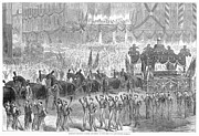 March Prints - Lincolns Funeral, 1865 Print by Granger