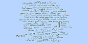 Word Cloud Prints - Lincolns Second Inagural-Word Cloud Print by David Bearden
