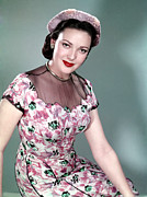 1950s Fashion Prints - Linda Darnell, 1950 Print by Everett