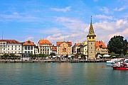 Lindau Framed Prints - Lindau Harbor Framed Print by Dean Farrell