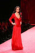 Red Dress Framed Prints - Lindsay Lohan At Fashion Show For The Framed Print by Everett