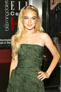 Elle Prints - Lindsay Lohan Wearing A Valentino Dress Print by Everett