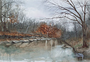Midwest Prints - Line Creek  Print by Denny Dowdy