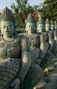 Siem Reap Posters - Line of Buddhas Poster by Bill Bachmann - Printscapes