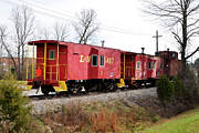 Old Caboose Posters - Line of Cabooses  Poster by Paul Mashburn