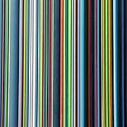 Rhythmic Prints - Linear Technicolor - 4 of 4 Print by Alan Todd