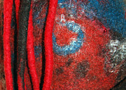 Felt Tapestries - Textiles Metal Prints - Lined Up Reds     Metal Print by Alexandra Jordankova