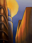 Montreal Buildings Painting Metal Prints - Lines and Curves Metal Print by Duane Gordon