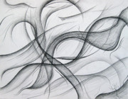 Abstract Expressionist Drawings Metal Prints - Lines and Formations for D Metal Print by Michael Morgan