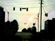 Powerlines Paintings - Lines by Travis  Ragan