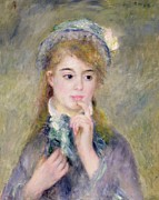 Pierre Paintings - LIngenue by Pierre Auguste Renoir