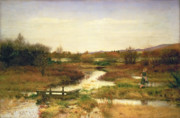 River Walk Paintings - Lingering Autumn by Sir John Everett Millais