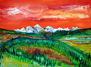 Rockies Paintings - Lingering Light by James Bryron Love