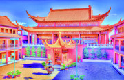 Lingyen Mountain Temple 12 Print by Lawrence Christopher
