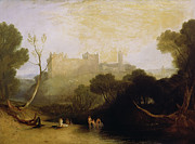 Scottish Landscape Framed Prints - Linlithgow Palace Framed Print by Joseph Mallord William Turner