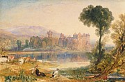 Scotland Paintings - Linlithgow Palace by Joseph Mallord William Turner