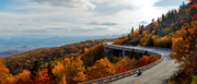 Autum Posters - Linn Cove Viaduct Poster by Jonas Wingfield