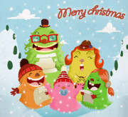 Christmas Cards Digital Art - Lint family by Javier Bernardino