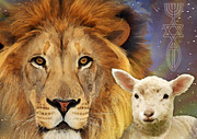 Lamb Digital Art Originals - Lion And The Lamb by Todd L Thomas