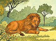 Storybook Paintings - Lion And The Mouse by Valerian Ruppert