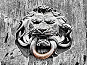 Entrance Door Digital Art Prints - Lion and The Snake Print by Greg Sharpe