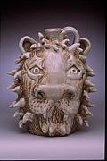 Face Ceramics - Lion Face Jug by Stephen Hawks