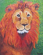 Lore Rossi Metal Prints - Lion Head Metal Print by Lore Rossi