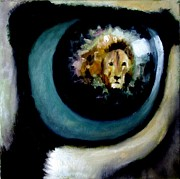 Pride Paintings - Lion in the eye by Graham Keith