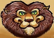 Cartoon  Lion Digital Art - Lion by Kevin Middleton