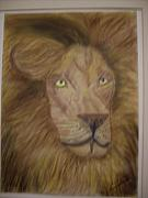 King Pastels Originals - Lion King by Rosario Gerena