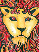 Lion Of Judah Paintings - Lion of Judah by Amber Hadden
