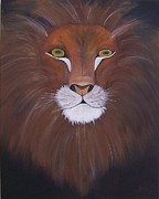 Lion Of Judah Paintings - Lion of Judah by April Beasley