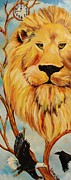 Prophecy Painting Originals - Lion of Judah by Diana Kaye Obe