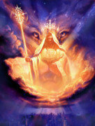 Christian Painting Prints - Lion of Judah Print by Jeff Haynie