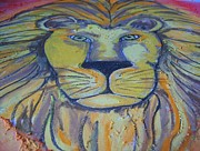 Jesus Pastels Prints - Lion of Judah Print by Theresa Johnson