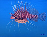 Lionfish Paintings - Lion of the Sea by Michael Allen