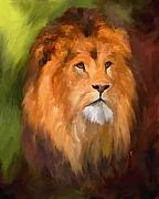 Wild Cat Prints - Lion Portrait Print by Jai Johnson