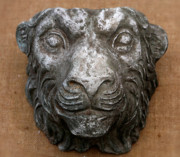 Decorative Sculpture Framed Prints - Lion Framed Print by Vladimir Kozma