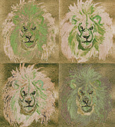 C.s Lewis Posters - Lion x 4 One Poster by First Star Art