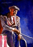 Celebrity Portraits Posters - Lionel Hampton  Poster by David Lloyd Glover