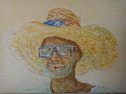 Sunglasses Pastels - Lionel with his sunglasses by Pierre Lamare
