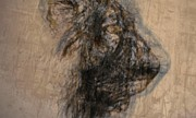 Spiritual Drawings Drawings Originals - Lioness by Arlene Rabinowitz