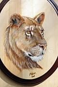 Pet Portraits Pyrography - Lioness by John Tatham