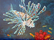 Lionfish Paintings - Lionfish 3 by Jennifer Belote