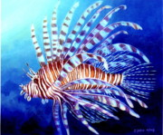 Lionfish Paintings - Lionfish by Edoen Kang