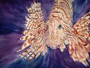 Lionfish Paintings - Lionfish by Tanya L. Haynes - Printscapes