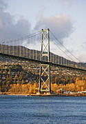 Lions Gate Bridge Vancouver Print by Marlene Ford